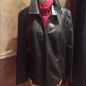 LIKE BUTTER . lambskin  blk  ALFANI  jacket. Xl. !